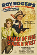 """Movie Posters:Western, Heart of the Golden West (Republic, 1942). One Sheet (27"""" X 41"""")...."""