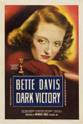 "Movie Posters:Drama, Dark Victory (Warner Brothers, 1939). One Sheet (27"" X 41"")...."