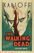 "Movie Posters:Horror, The Walking Dead (Warner Brothers, R-1942). One Sheet (27"" X41"")...."