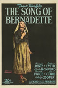 "Movie Posters:Drama, The Song of Bernadette (20th Century Fox, 1943) One Sheet (27"" X 41"") Style B...."