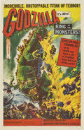 "Movie Posters:Science Fiction, Godzilla (Trans World, 1956). Autographed One Sheet (27"" X 41"")...."