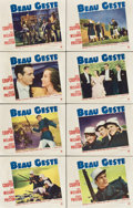 "Movie Posters:Adventure, Beau Geste (Paramount, 1939). Lobby Card Set of 8 (11"" X 14"")....(Total: 8 Items)"