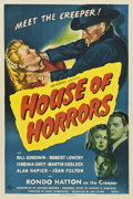 "Movie Posters:Horror, House of Horrors (Universal, 1946). One Sheet (27"" X 41"")...."