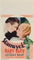 "Movie Posters:Drama, Baby Face (Warner Brothers, 1933). Midget Window Card (8"" X14"")...."