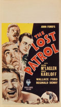"Movie Posters:War, The Lost Patrol (RKO, 1934). Midget Window Card (8"" X 14"")...."