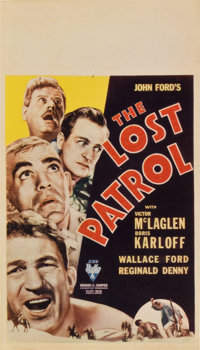 "The Lost Patrol (RKO, 1934). Midget Window Card (8"" X 14"")"
