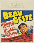 "Movie Posters:Adventure, Beau Geste (Paramount, 1939). Jumbo Window Card (22"" X 28"")...."