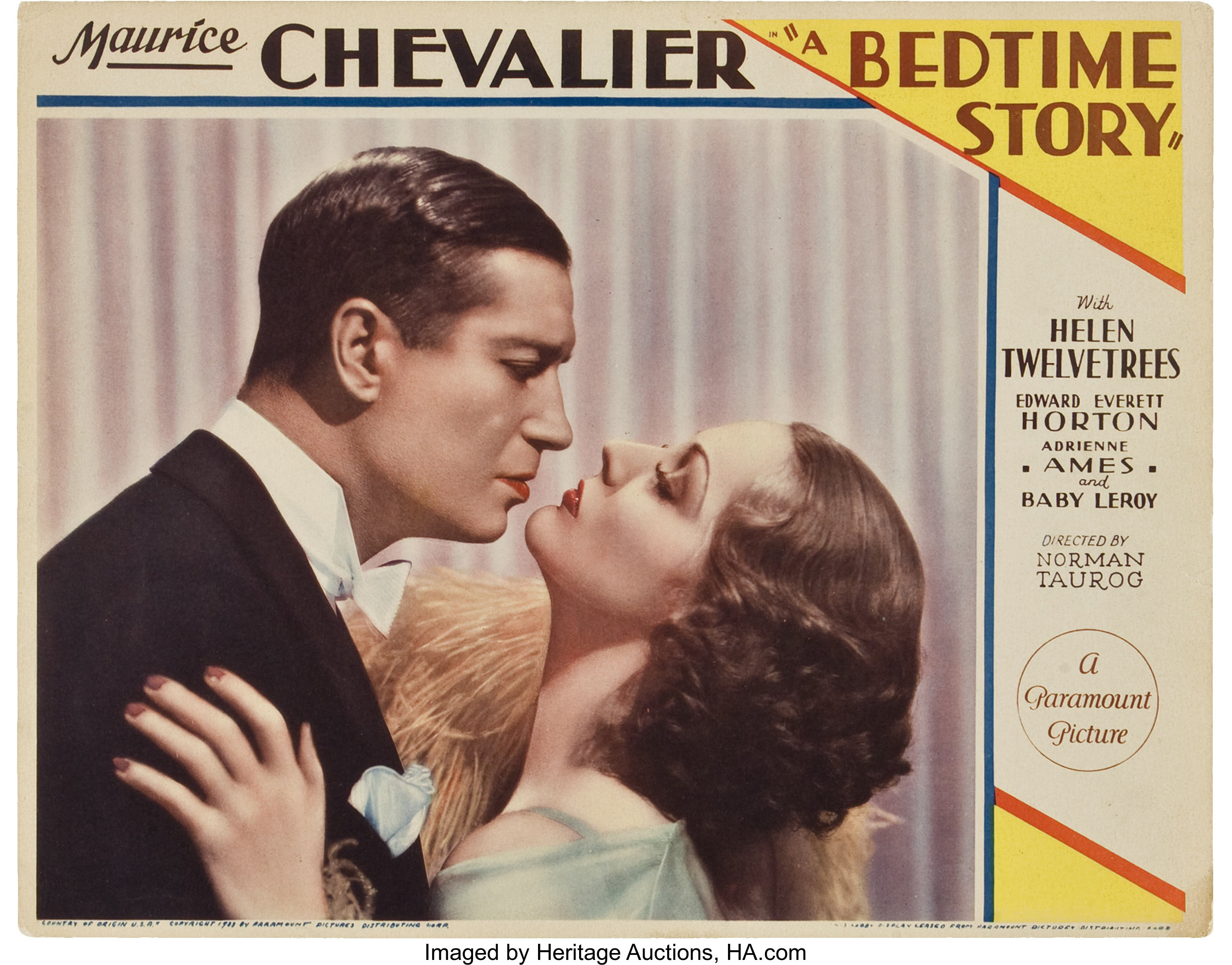 A bed time story Maurice Chevalier movie poster