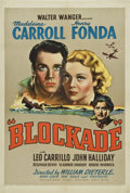 "Movie Posters:War, Blockade (United Artists, 1938). One Sheet (27"" X 41"")...."