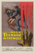"Movie Posters:Horror, I Was a Teenage Werewolf (American International, 1957). One Sheet(27"" X 41"")...."