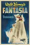 "Movie Posters:Animated, Fantasia (RKO, 1940). One Sheet (27"" X 41"") Style B...."