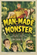 "Movie Posters:Horror, Man-Made Monster (Universal, 1941). One Sheet (27"" X 41"")...."