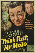 "Movie Posters:Mystery, Think Fast, Mr. Moto (20th Century Fox, 1937). One Sheet (27"" X41"")...."