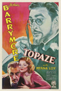 "Movie Posters:Drama, Topaze (RKO, 1933). One Sheet (27"" X 41"")...."