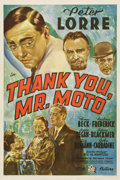 "Movie Posters:Mystery, Thank You, Mr. Moto (20th Century Fox, 1937). One Sheet (27"" X41"")...."