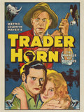 "Movie Posters:Adventure, Trader Horn (MGM, 1931). Poster (30"" X 40"")...."