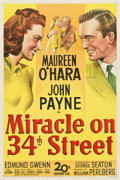 "Movie Posters:Comedy, Miracle on 34th Street (20th Century Fox, 1947). One Sheet (27"" X 41"")...."