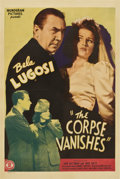"""Movie Posters:Horror, The Corpse Vanishes (Monogram, 1942). One Sheet (27"""" X 41"""")...."""