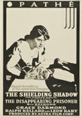"Movie Posters:Serial, The Shielding Shadow (Pathe, 1916). One Sheet (27"" X 41"") ChapterSix -- ""The Disappearing Prisoner.""..."