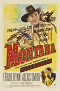 "Movie Posters:Western, Montana (Warner Brothers, 1950). One Sheet (27"" X 41"")...."