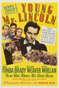 "Movie Posters:Drama, Young Mr. Lincoln (20th Century Fox, 1939). One Sheet (27"" X 41"")Style B...."