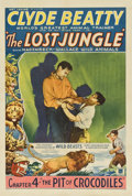 """Movie Posters:Serial, The Lost Jungle (Mascot, 1934). One Sheet (27"""" X 41"""") Chapter Four-- """"The Pit of Crocodiles.""""..."""
