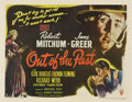 "Movie Posters:Film Noir, Out of the Past (RKO, 1947). Half Sheet (22"" X 28"") Style B...."