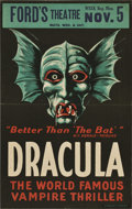 "Movie Posters:Horror, Dracula (Stage Play, 1928). Window Card (13.5"" X 21.75"")...."
