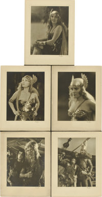 "The Viking (MGM, 1928). Lobby Card (11"" X 14""), Stills (3) (8"" X 10"") and Signed Deluxe Stills (12)..."