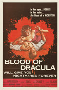 "Movie Posters:Horror, Blood Of Dracula (American International, 1957). One Sheet (27"" X41"")...."