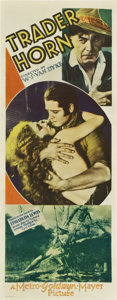 "Movie Posters:Adventure, Trader Horn (MGM, 1931). Insert (14"" X 36"")...."