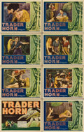 "Movie Posters:Adventure, Trader Horn (MGM, 1931). Lobby Card Set of 8 (11"" X 14"")....(Total: 8 Items)"