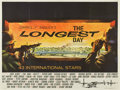 "Movie Posters:War, The Longest Day (20th Century Fox, 1962). British Quad (30"" X 40"")...."