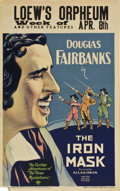 "Movie Posters:Adventure, The Iron Mask (United Artists, 1929). Window Card (14"" X 22"")...."