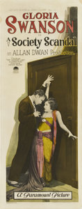 "Movie Posters:Drama, A Society Scandal (Paramount, 1924). Insert (14"" X 36"")...."