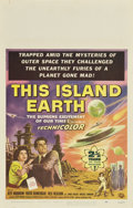 """Movie Posters:Science Fiction, This Island Earth (Universal International, 1955). Window Card (14""""X 22"""")...."""