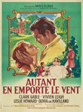 "Movie Posters:Academy Award Winner, Gone with the Wind (MGM, R-1955). French Grande (47"" X 63"")...."