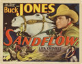 "Movie Posters:Western, Sandflow (Universal, 1937). Title Lobby Card and Lobby Cards (2) (11"" X 14"").... (Total: 3 Items)"