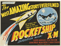 "Rocketship X-M (Lippert, 1950). British Quad (30"" X 40"")"
