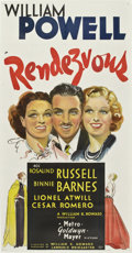 "Movie Posters:Comedy, Rendezvous (MGM, 1935). Three Sheet (41"" X 81"") Style B...."