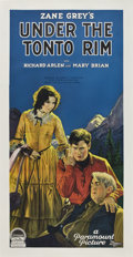 "Movie Posters:Western, Under the Tonto Rim (Paramount, 1928). Three Sheet (41"" X 81"")...."
