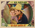 "Movie Posters:Western, In Old Santa Fe (Mascot, 1934). Lobby Card (11"" X 14"")...."