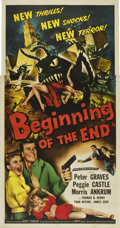 "Movie Posters:Science Fiction, Beginning of the End (Republic, 1957). Three Sheet (41"" X 81"")...."