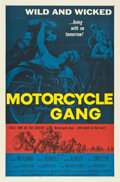 "Movie Posters:Drama, Motorcycle Gang (American International, 1957). One Sheet (27"" X41"") Flat-Folded...."
