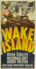 "Movie Posters:War, Wake Island (Paramount, 1942). Three Sheet (41"" X 81"")...."