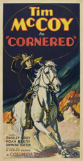 "Movie Posters:Western, Cornered (Columbia, 1932). Three Sheet (41"" X 81"")...."