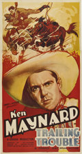 """Movie Posters:Western, Trailing Trouble (Grand National, 1937). Three Sheet (41"""" X 81"""")...."""