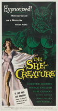 "Movie Posters:Science Fiction, The She-Creature (American International, 1956). Three Sheet (41"" X81"")...."