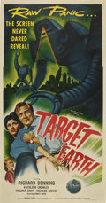 """Movie Posters:Science Fiction, Target Earth (Allied Artists, 1954). Three Sheet (41"""" X 81"""")...."""