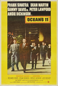 """Ocean's 11 (Warner Brothers, 1960). Poster (40"""" X 60"""") Style Z"""